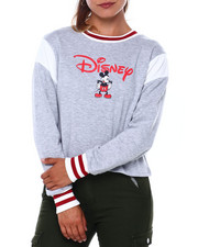 Sweaters - Mickey Disney Inset Skimmer Crew Neck Pullover-2400904