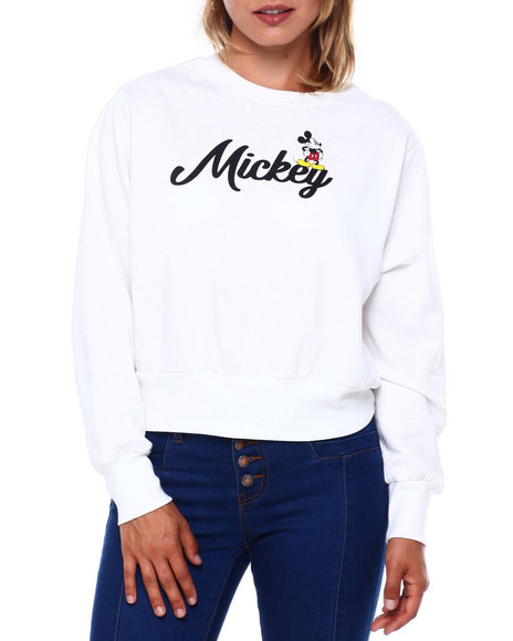 Graphix Gallery - Mickey Banded Cropped Sweatshirt
