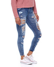 Bottoms - High Rise Destructed Ankle Jean-2396700