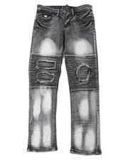 Jeans - Fashion Moto Denim Jeans (8-18)-2400640
