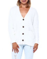 Almost Famous - Teddy Yarn V Nk Button Frt Cardigan-2397038