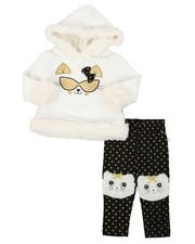 Girls - Fur Trimmed Hooded Fleece Set (Infant)-2399635