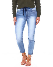 Bottoms - High Rise Pull On Slim Denim Pant W/Abrasion-2396500
