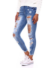 Bottoms - High Rise Destructed Skinny Jean-2396420
