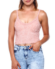 Almost Famous - Cotton Candy Sweater Knit Vnk S/L Tank-2397053