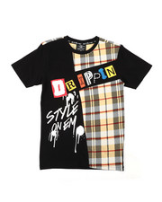 Sizes 8-20 - Big Kids - Graphic Tee W/ Patches (8-20)-2400528