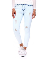 Bottoms - Destructed High Rise Skinny Jean-2396071
