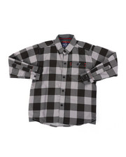 Parish - Chambray Buffalo Plaid Woven Shirt (4-7)-2400414