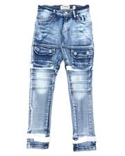 Jeans - Cargo Denim Jeans W/ Hook & Loop detail (8-20)-2400584