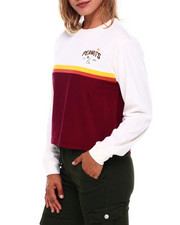 Graphix Gallery - Peanuts Pieced Long Sleeve Skimmer-2400464