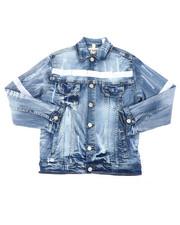 Denim Jackets - Denim Jacket W/ Hook & Loop Detail (8-20)-2400592