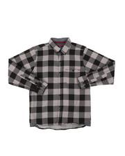 Button-downs - Chambray Buffalo Plaid Woven Shirt (8-18)-2400423