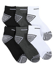 DRJ SOCK SHOP - Six Pack Quarter Socks-2398836