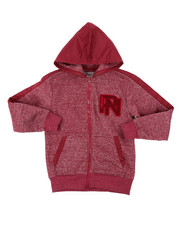Hoodies - Marled Fleece Full Zip Hoodie (8-20)-2400394