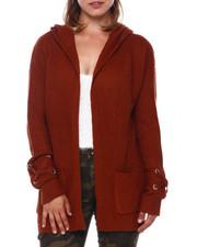 Sweaters - Shaker Stitch Hoodie Cardigan-2397004