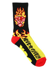 DRJ SOCK SHOP - Flames Crew Socks-2400826