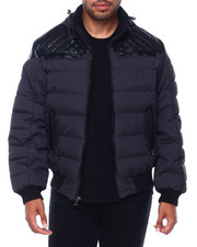 Black Friday Deals - Mojo Hooded Quilted Yoke Jacket-2401516