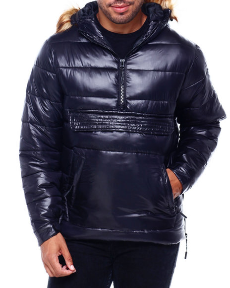 MADBLUE - Anorak Puffer w/ Faux Fur Hood