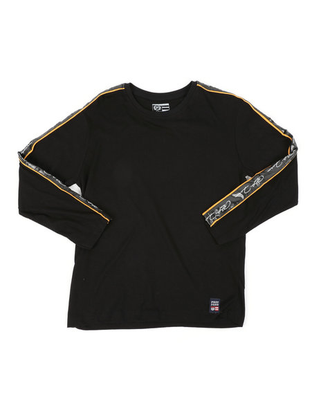 Phat Farm - Long Sleeve Poly Taped Crew Neck Shirt (8-18)