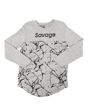 Phat Farm - Long Sleeve Cut & Sew Printed Tee (8-18)-2401647