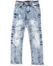 Bottoms - Stretch Jeans W/ Rip & Tear Detail (8-18)-2401840