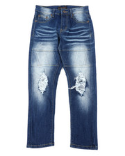 Bottoms - Stretch Jeans W/ Rip & Tear Detail (8-18)-2401862