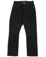 Bottoms - Stretch Jeans W/ Rip & Tear Detail (8-18)-2401874