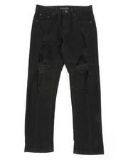 Bottoms - Stretch Jeans W/ Rip & Tear Detail (8-18)-2401886