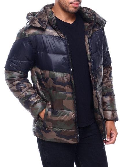 MADBLUE - Chevron Puffer Coat