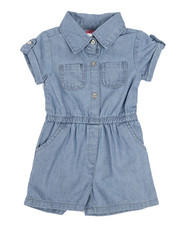 Rompers - Chambray Romper (2T-4T)-2346002