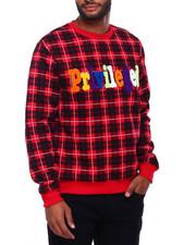 Sweatshirts & Sweaters - PRIVILEGED PLAID CREWNECK SWEATSHIRT-2402244