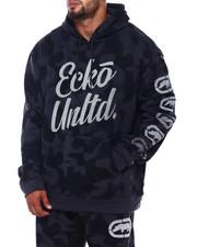 Ecko - 2 Color Camo Hoodie w/ Vert Rhino Repeat (B&T)-2402079