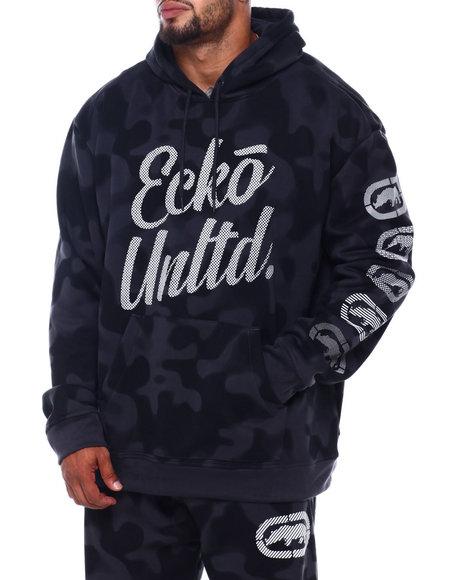 Ecko - 2 Color Camo Hoodie w/ Vert Rhino Repeat (B&T)