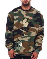 Big & Tall Faves - Masterplan Crew Sweatshirt W/Chenille Patch (B&T)-2400700