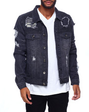 Buyers Picks - Distressed Rip and Repair Jacket w Camo Patch-2402501