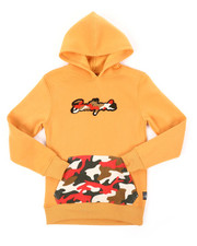 Boys - Pullover Fleece Hoodie W/ Camo Chenille Patch (8-20)-2401604