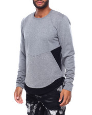 Buyers Picks - Two Tone French Terry Zipper Pullover-2402807