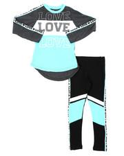 La Galleria - 2 Pc Athleisure Top & Leggings Set (4-6X)-2401562
