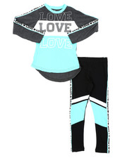 Girls - 2 Pc Athleisure Top & Leggings Set (4-6X)-2401562