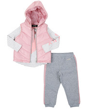 Girls - DKNY 3PC Puffer Vest Set (2T-4T)-2402970