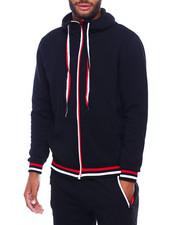 Outerwear - Heathered zip Hoody w Stripe Band-2402488