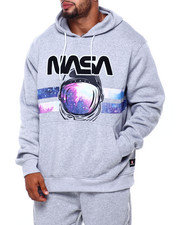 Men - Pullover Fleece Hoodie W/Chenille Patch (B&T)-2400816
