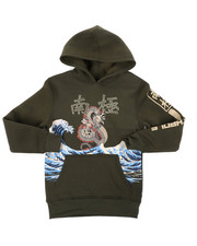 Sizes 8-20 - Big Kids - Pullover Fleece Hoodie W/ Rhinestones (8-20)-2401903