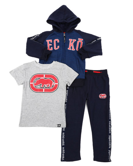 Ecko - 3PC Fleece Jogger Set (8-18)