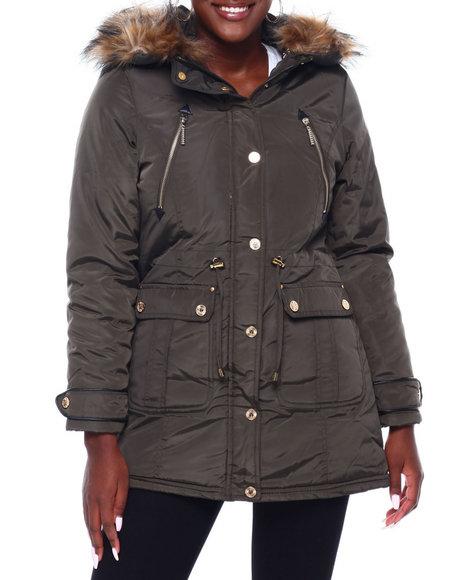 Rocawear - RCW Faux Fur Hood Trim Parka