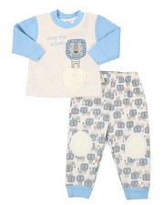 Duck Duck Goose - Faux Fur Trim Fleece Set (Infant)-2402908
