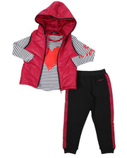 Girls - DKNY 3PC Puffer Vest Set (4-6X)-2402965