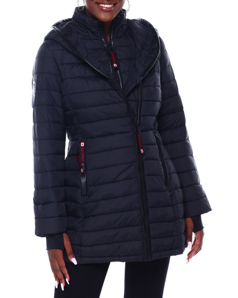 Canada Weather Gear - CWG Lt Wgt Long Satin Puffer