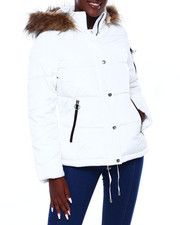 Madden Girl - MG HI Nk Faux Fur Trim Hood Nylon Puffer-2403046