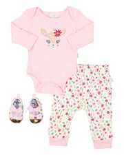 Duck Duck Goose - 3 PC Knit Set W/ Booties (Infant)-2402904